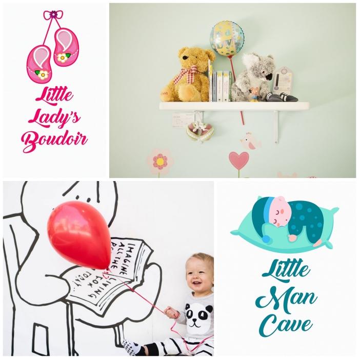 des stickers muraux pour personnaliser les murs de la chambre d'enfant fille ou garçon et y apporter une touche de fantaisie