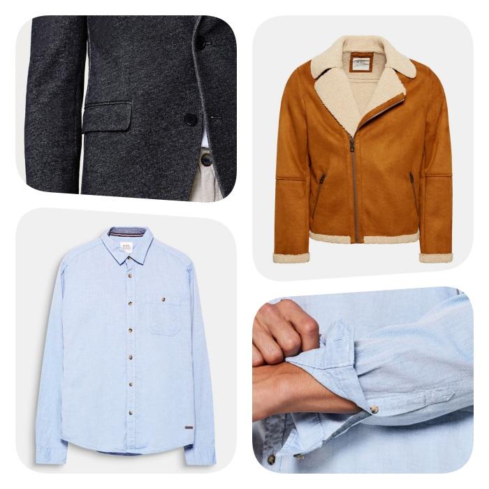 que mettre en haut, chemise en jean, veste gris anthracite, manteau veste en daim doublée de fourrure marron, style casual chic homme