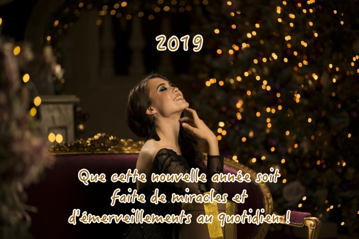 bonne annee 2019, photographie fêtes fin d'année, image célébration de noel ou nouvel an avec voeux 2019