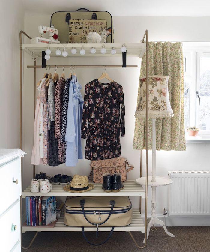 Petit dressing dressing chambre meuble rangement chambre femme style vintage
