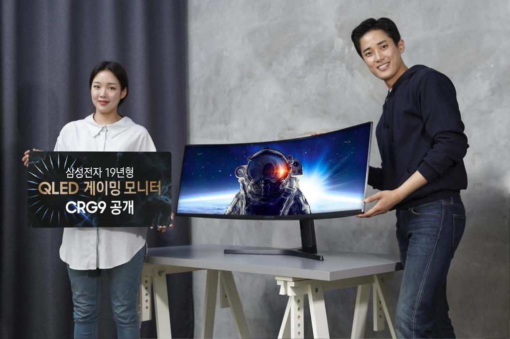 samsung présente son nouvel écran pour gamers de 49 pouces incurvé avec résolution 5K à l'occasion du ces 2019 à las vegas