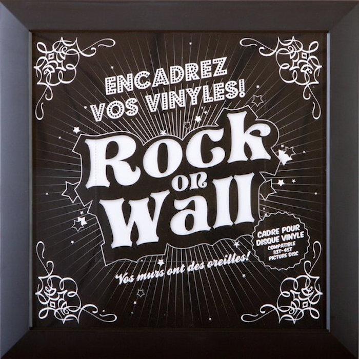 cadre pour disque vinyle marque rock on wall noir pour décoration murale avec disques vinyles