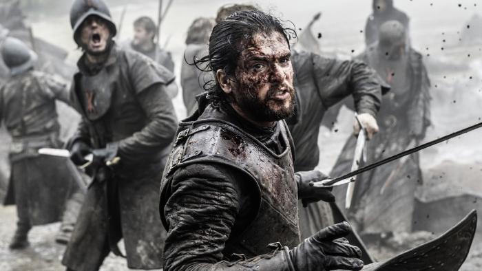 Jon Snow dans la saison finale de Game of Thrones, première des épisodes finales de la série Game of Thrones