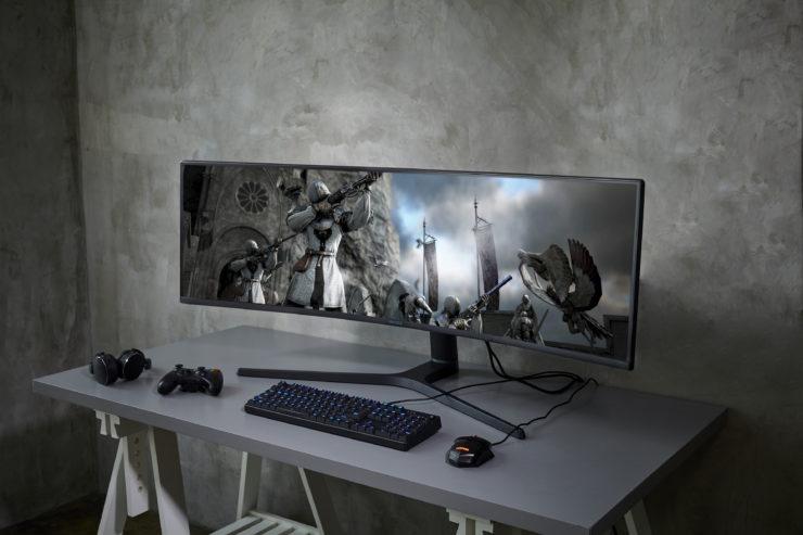 Image d'illustration du nouvel écran grg9 49 pouces incurvé pour gamer par samsung pour le ces 2019
