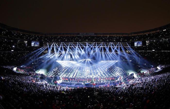 photo illustration finale superbowl LIII 2019 avec le concert polémique de maroon 5 et travis scott