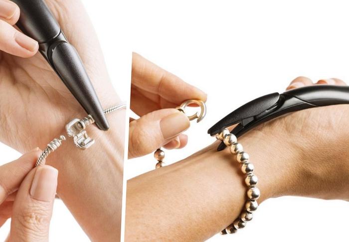cadeau original high-tech pour saint valentin, modèle outil pour bijoux, exemple accessoire pince attache bijoux