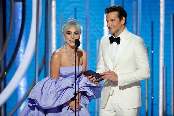 Lady Gaga nominée pour le rôle dans A Star is Born, Golden Globes 2019 prix de Meilleure chanson originale, Lady Gaga et Bradley Cooper Golden Globes cérémonie