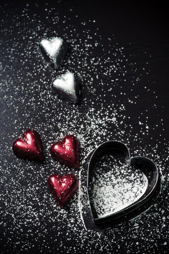 image romantique coeur de poudre, belle image d'amour, comment montrer son amour avec photo, envoyer des bonbons à celui que vous aimez