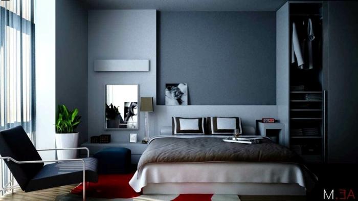 1001 id es captivantes de peinture chambre adulte en 2 couleurs - Chambre a coucher gris et noir ...