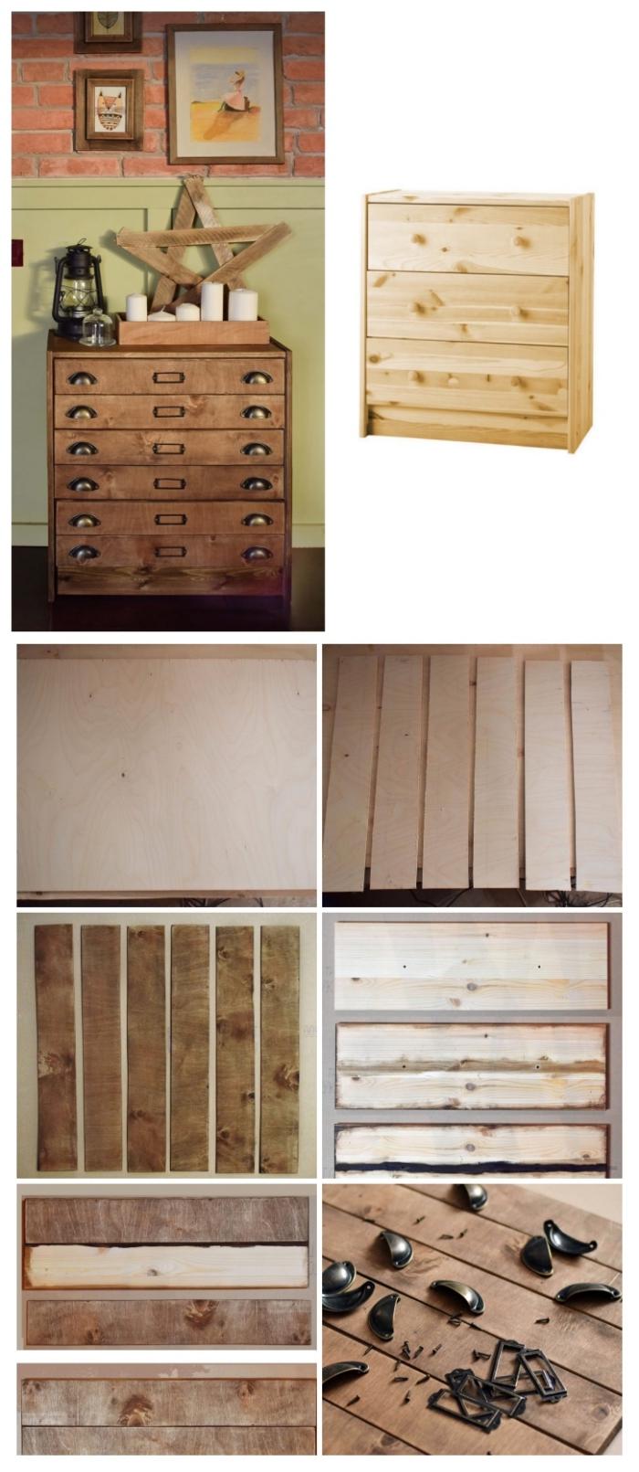 tuto facile pour customiser un meuble rast de chez ikea, commode rast relookée en meuble d'apothicaire