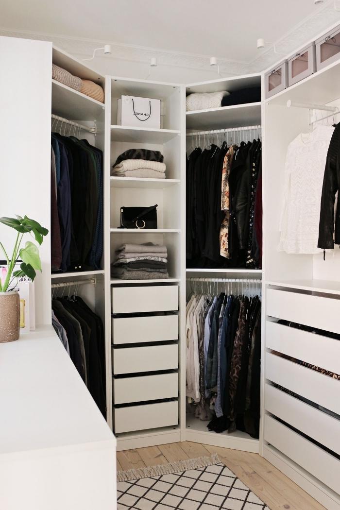 id e dressing plus de 70 id es pour am nager le dressing. Black Bedroom Furniture Sets. Home Design Ideas