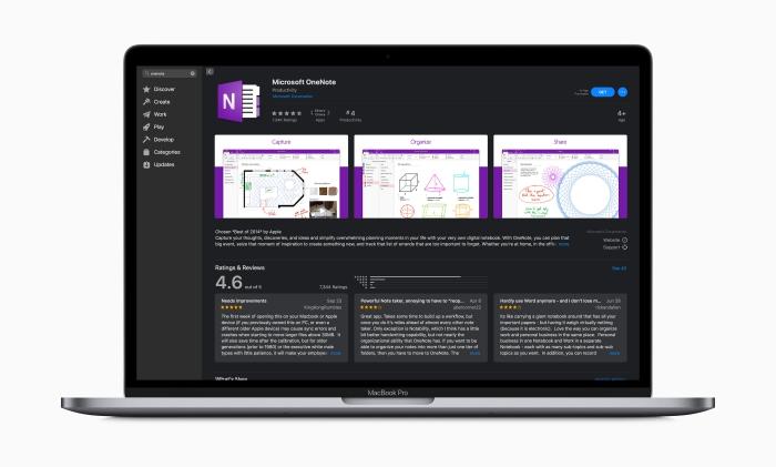 toutes les applications de la suite microsoft office 365 sont déjà disponibles au téléchargement sur le mac app store