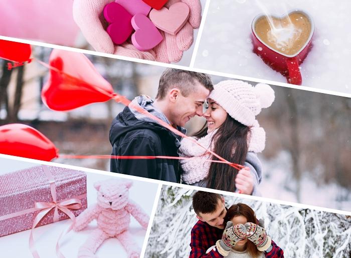 objets romantiques pour la Saint Valentin, quelle surprise pour femme amoureuse, boîte emballage rose glitter avec ruban rose pastel