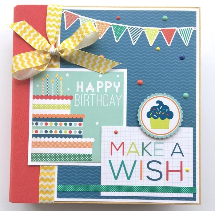 carte anniversaire originale à fabriquer soi-même, modèle carte forme carrée en papier artisanal avec lettres joyeux anniversaire