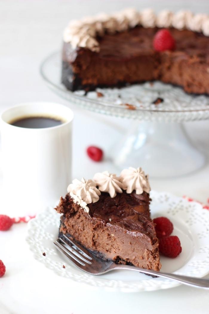 recette délicieuse de fondant au nutella façon cheesecake espresso et chocolat