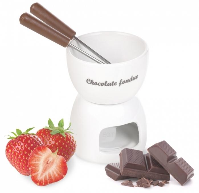 outil de cuisine pour cadeau Saint Valentin, kit chocolat fondu pour deux, appareil chocolat fondu à la maison
