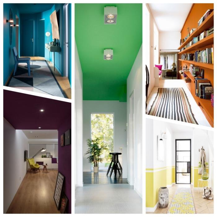 les couleurs de peinture tendance en 2019 et quelques idées comment les adopter sur les murs de l'escalier, déco couloir étroit