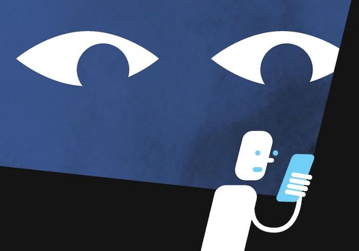image illustration pour facebook qui espionne ses utilisateurs jeunes via research et le atlas project