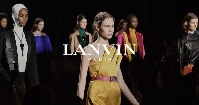 lanvin collection homme femme automne hiver 2018 2019, maison haute couture la plus ancienne en france
