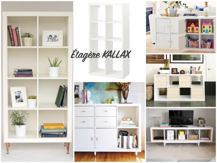 les nombreuses utilisations du meuble case ikea, différentes manières de détourner une étagère kallax pour en faire un meuble de salon fonctionnel