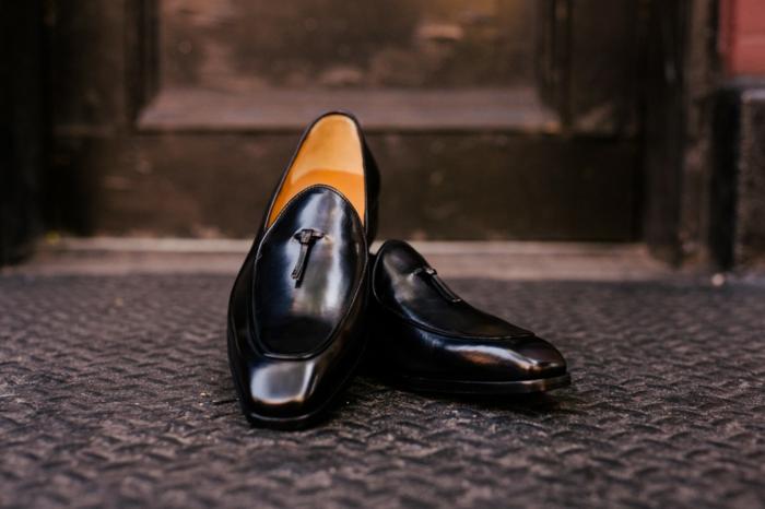 chaussure homme ville, chaussures pour tenue mariage, mocassions officiels, cuir noir