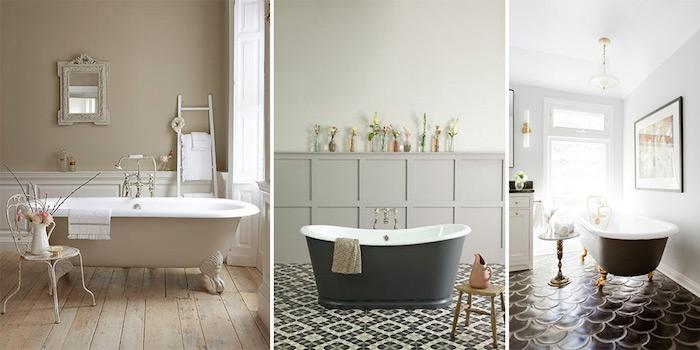 photo comment assortir une peinture pour baignoire métal sur pieds avec la couleur générale de la salle de bain