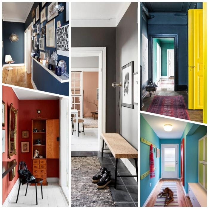 quelle couleur de peinture couloir choisir pour agrandir ou rétrécir visuellement l'espace