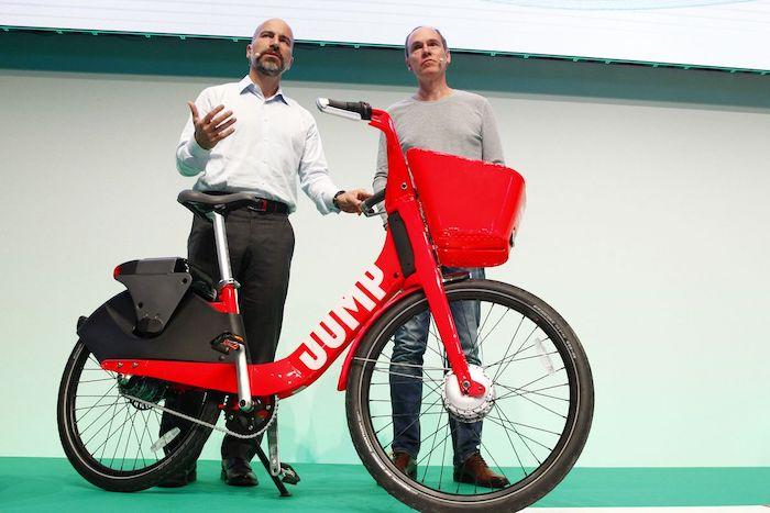 le service jump au sein de uber présenté il y a quelques mois, vélo uber avec batteries échangeables et capacité auto-diagnostique