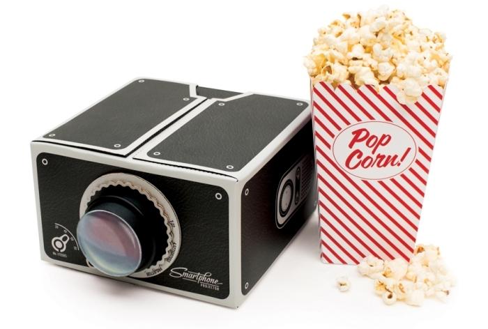 cadeau high-tech original, modèle appareil mini pour cinéma à la maison, exemple projecteur pour portable