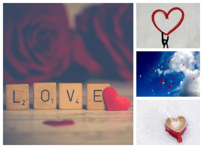 Collage coeur st valentin, bonne saint valentin mon amour, idée que envoyer pour montrer son affection
