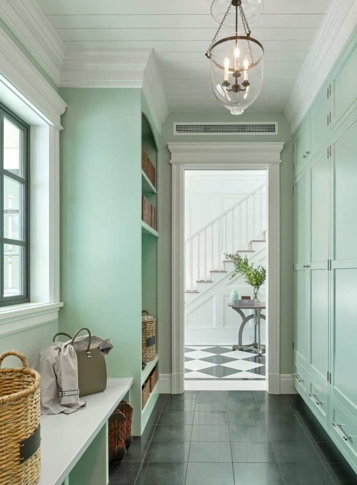 ✿ ▷ 1001 + idées de couleurs pour une peinture couloir originale