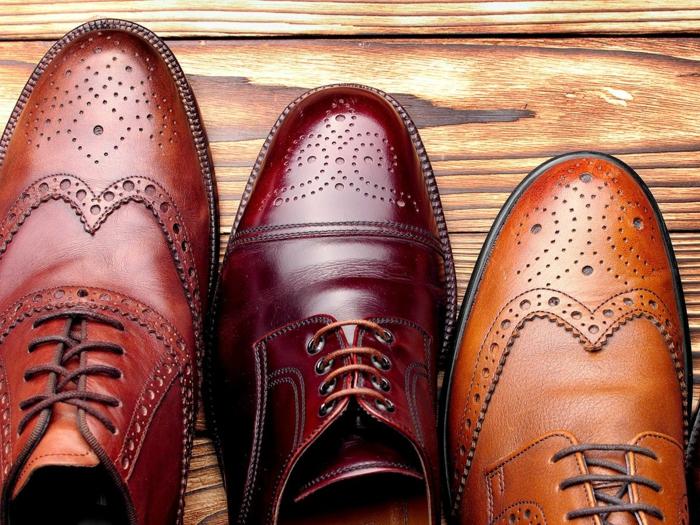 chaussures homme haut de gamme, brogues marron classiques, comment s'habiller pour un mariage