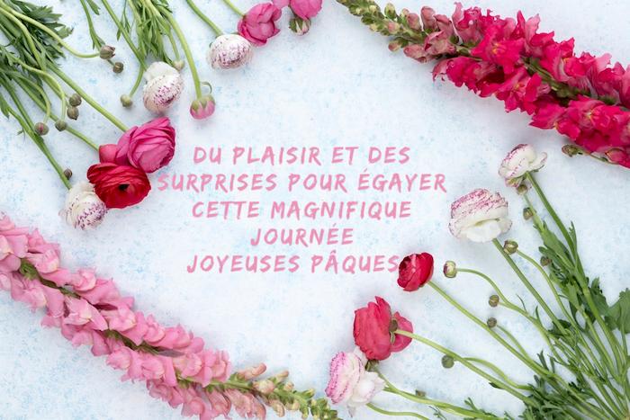 Voeux de Pâques et photo à envoyer à un ami, fleurs de printemps et citation paques, idée image à envoyer poue la fete des paques, image de pâques, carte joyeuses pâques