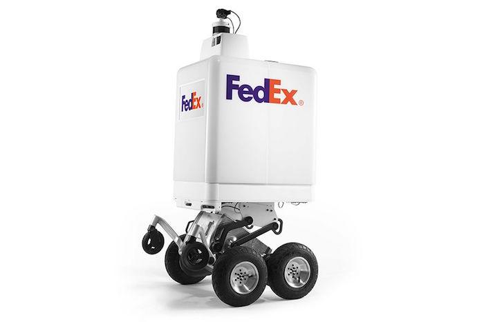 photo du FedEx SameDay Bot le robot livreur autonome testé à memphis par le transporteur