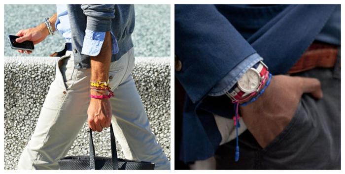 comment porter un pantalon beige avec chemise classique en bleu clair et gilet en gris, idées accessoires originaux pour homme