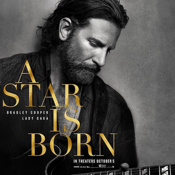 affiche du film a star is born avec Lady Gaga et Bradley Cooper qui est embarrassé de ne pas être nominé comme meilleur réalisateur aux oscars 2019