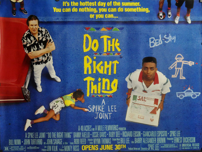 poster affiche du film de spike lee do the right thing sorti en 1990 pour illustrer le clash contre donald trump suite aux oscars 2019
