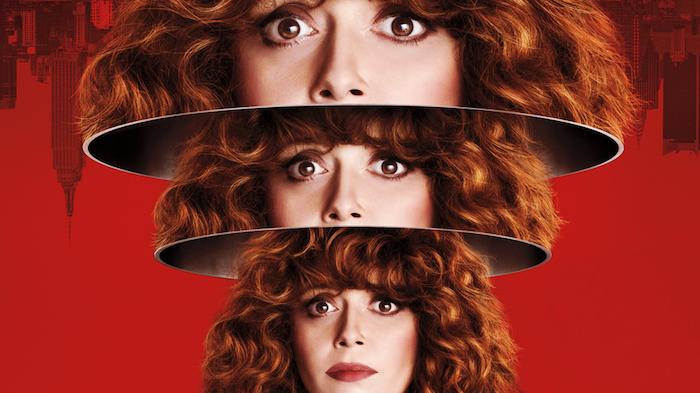 affiche de la nouvelle série poupée russe de Netflix diffusée depuis le 1er février avec Natasha Lyonne
