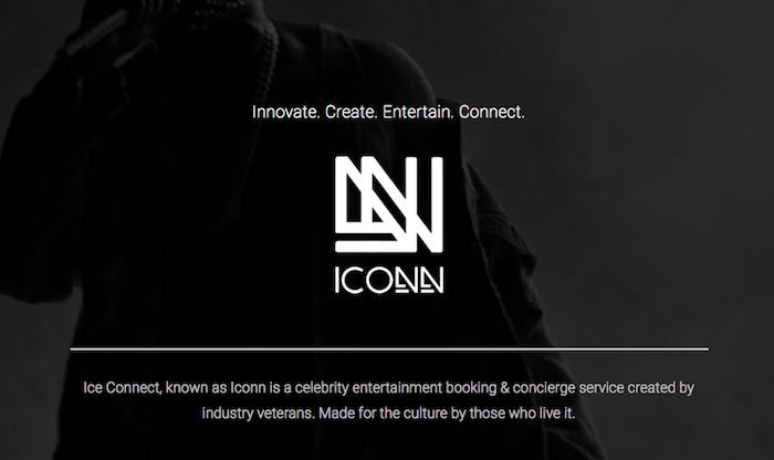 capture écran du site de ICONN société de booking d'artistes de JA Rule qui annonce un nouveau festival ICONNic après le désastre FYRE fest