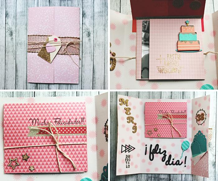 étapes à suivre pour fabriquer une carte d'anniversaire, exemple technique de pliage carte DIY, décoration carte d'anniversaire fait main