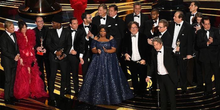 Photo remise de prix Oscar 2019 du Meilleur Film à l'équipe de Green Book Sur Les Routes Du Sud