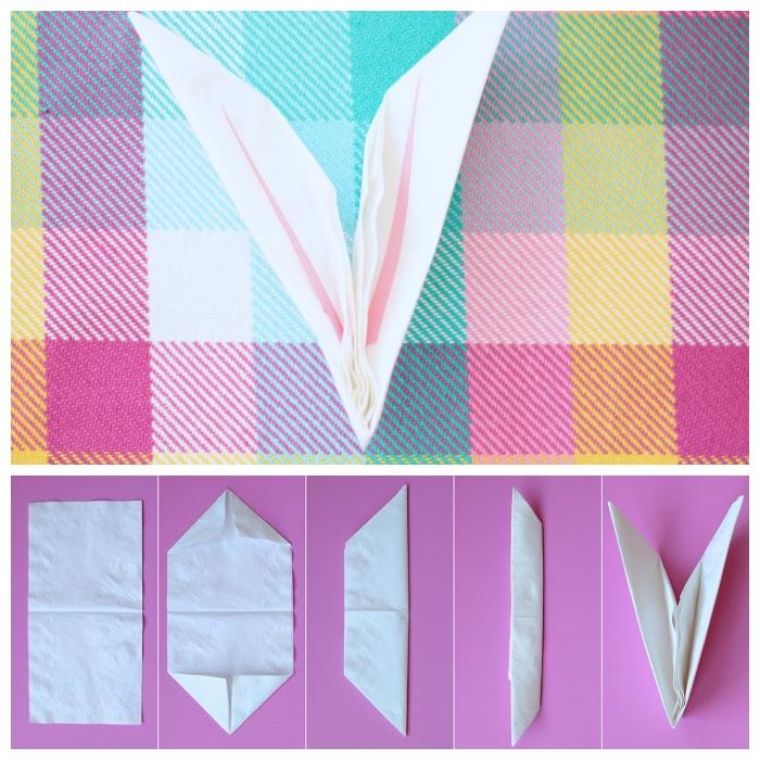 ▷ 1001 + idées créatives pour faire un pliage de serviette pour pâques