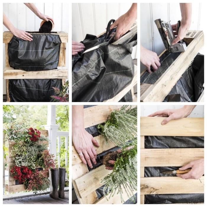 tuto pour réaliser une jardiniere palette facile, comment faire une jardinière en palette