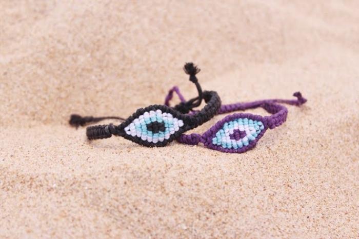 activité manuelle adulte, convection de bijoux en corde facile, modèle de bracelet en corde macramé, technique tressage bijou