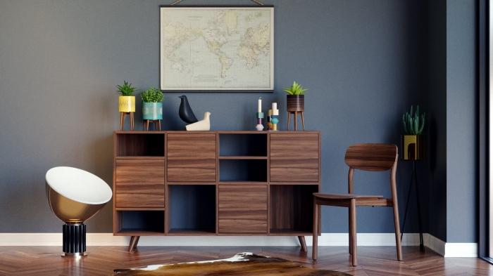 idée meuble modulable et personnalisable en ligne, configurer un meuble de rangement avec portes et tablettes à son choix