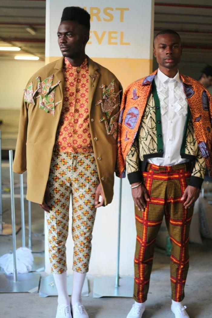 costumes élégants pour homme africain, vestes patchwork, pantalons motifs africains, chemises originales aux motifs ethniques