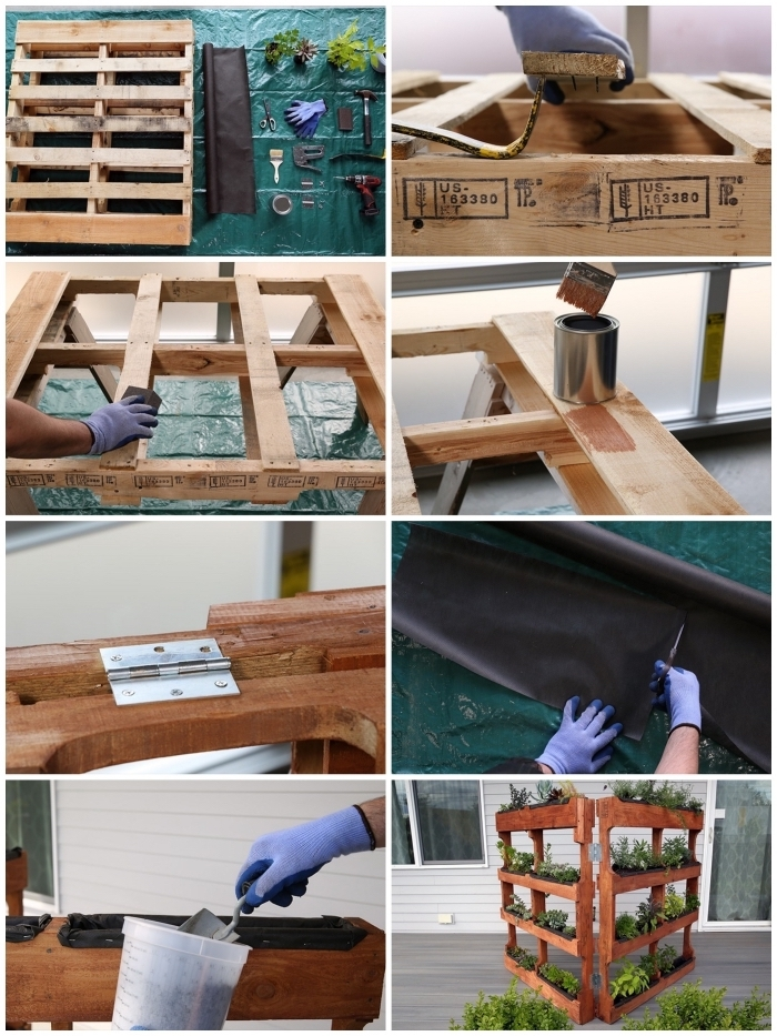 les étapes de fabrication d'une jardiniere palette de bois facile