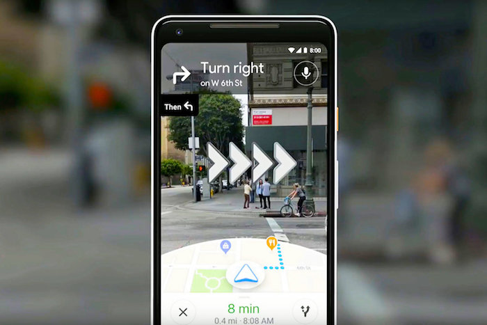 Photo présentation nouvelle fonction de Google Maps en réalité augmentée pour déplacements précis avec photos