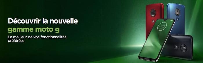 Illustration motorola pour présentation nouvelle gamme de smartphones Moto G7 Play Power 2019 avec chargement batterie Turbo Power