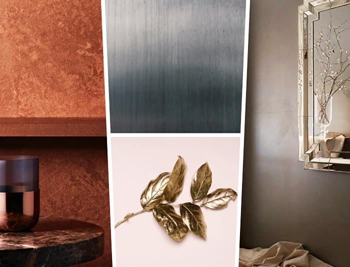 accessoires décoratifs à finition or, comment peindre des objets déco avec peinture à effet métallisée nuance or
